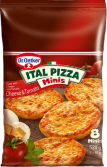 Ital Mini Pizzas Cheese & Tomato